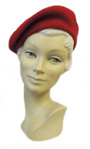 New Red Classic Vintage 1940's style Beret (8)